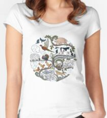 Born to Roam at Christmas Women's Fitted Scoop T-Shirt