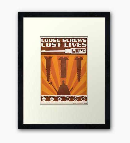 Time War Propaganda II Framed Print