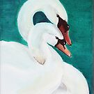 Swans Love by Dominique Gwerder