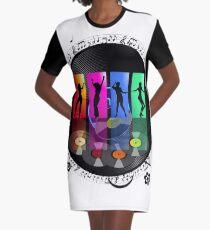 Vinyl Enchanting Vinyl Records Vintage  Graphic T-Shirt Dress