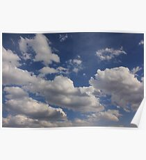 Clouds in blue sky Poster