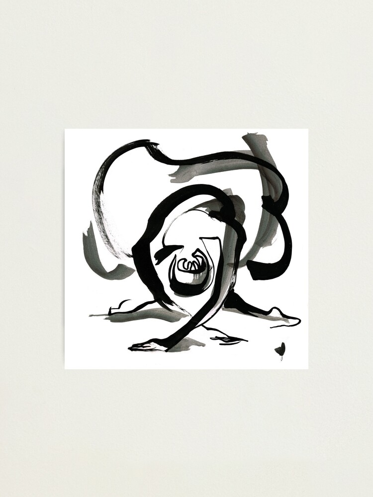 Alternate view of Expressive Ballerina Dance Drawing Photographic Print