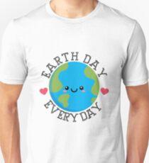 Camiseta unisex Día de la Tierra EveryDay Kawaii Cute Shirt