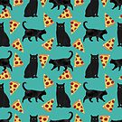 black cat pizza animal gifts by PetFriendly