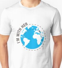 I'm With Her Earth Day Funny Science Shirt Unisex T-Shirt