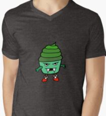 GREEN MUFFIN MONSTER Mens V-Neck T-Shirt