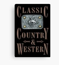 Classic Country & Western (Bucking Bronco) Canvas Print