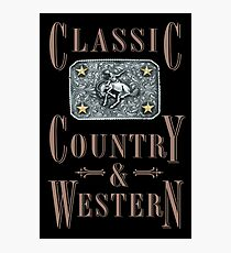 Classic Country & Western (Bucking Bronco) Photographic Print