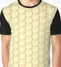 Yellow  crusty flames Pattern Graphic T-Shirt