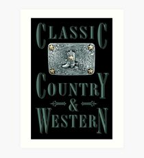 Classic Country & Western (Cowboy Boot) Art Print