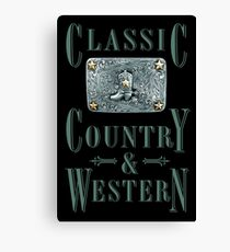 Classic Country & Western (Cowboy Boot) Canvas Print