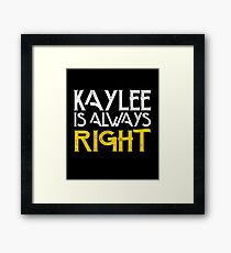 Kaylee is always right Framed Print