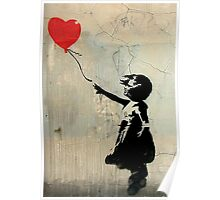 Banksy Red Heart Balloon Poster