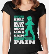 My Hero are learned through pain Women's Fitted Scoop T-Shirt