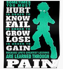 My Hero are learned through pain Poster