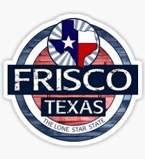 Frisco Texas wood circle Sticker