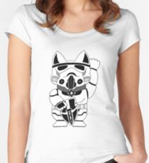 Lucky Trooper Cat Women's Fitted Scoop T-Shirt