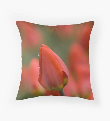 """""""Crying"""" Tulip Throw Pillow"""