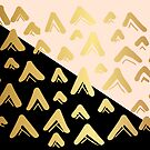 Cute, Beautiful, Luxury Gold Triangle Line Pattern on Black and Yellow Background. Wallpaper, Graphic Design, Digital Abstract Art, Vector Illustration. by Maricrism