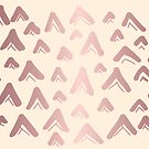 Cute, Beautiful, Luxury Rose Gold Triangle Line Pattern on Yellow Background. Wallpaper, Graphic Design, Digital Abstract Art, Vector Illustration. by Maricrism