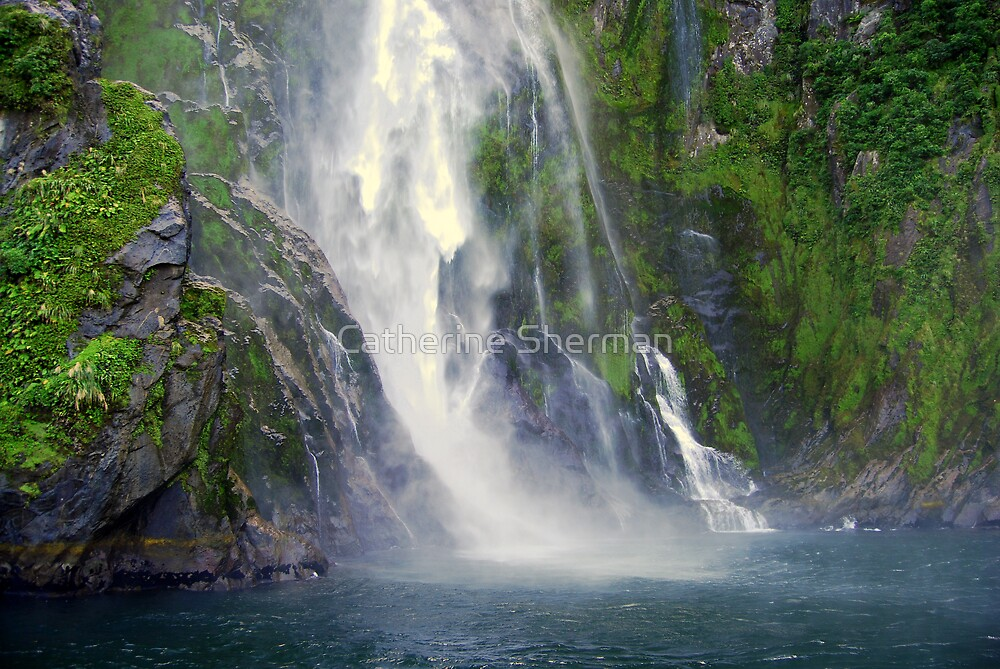 Stirling Falls, Milford Sound, New Zealand by Catherine Sherman