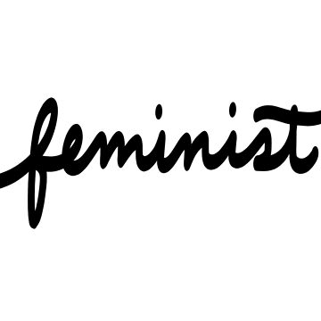 Feminist Calligraphy in Black by booksraintea