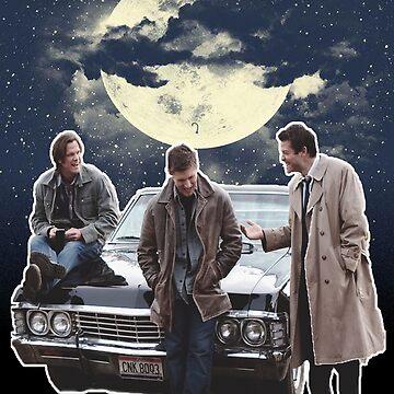Supernatural, Sam, Dean and Castiel by meggie1tr