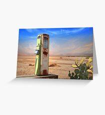 Old Gas Pump in Desert Greeting Card