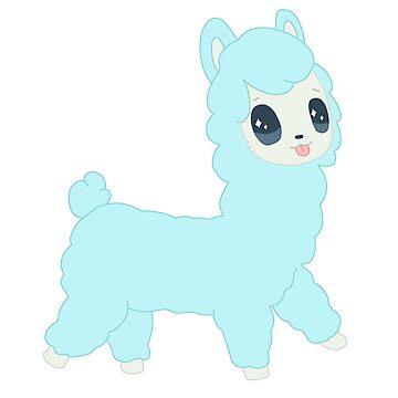 Baby Blue Chibi Alpaca Sticker by Navypaw
