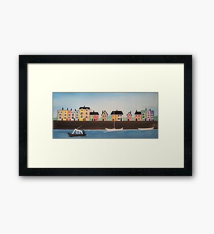 Harbourside Houses 1 Framed Print