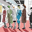 Woman Secrets- 1950s Theater queue by Ruth Isern