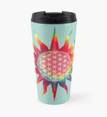 Flower of Life (tie-dye sun) Travel Mug