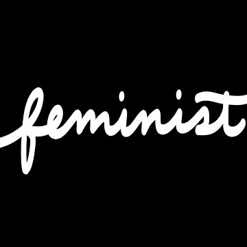 Feminist Calligraphy in White by booksraintea