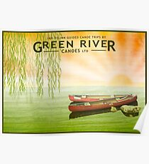 Poster - Canoeing under the Willows Poster