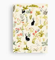 black rabbits  Canvas Print