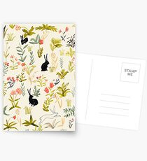 black rabbits  Postcards