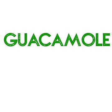 Eat Sleep Guacamole Repeat T-Shirt by UniverseZen