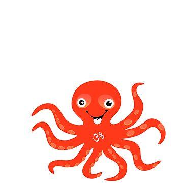 Cute Octopus Yoga Witty Men Women T Shirt Gift by OldeBazaar