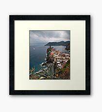 Cloudy Cinque Terre Framed Print