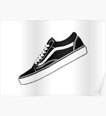 VANS Low Tops black/white Poster