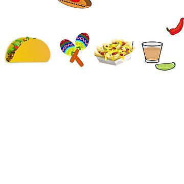 Taco fiesta - Taco party shirt guacamole nachos maracas and tequila cinco de mayo by UniverseZen