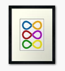 Infinity Stones COLORS Framed Print