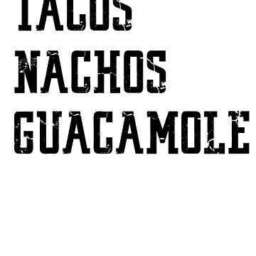 Tacos Nachos Guacamole shirt cinco de mayo mexican tee by UniverseZen