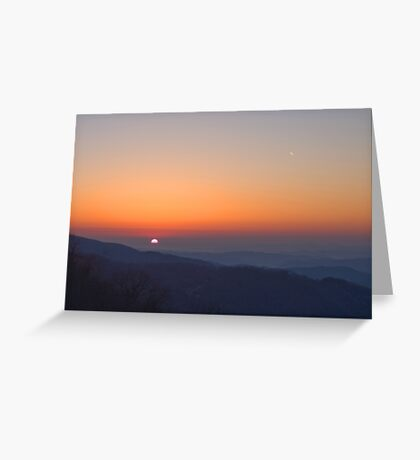 Sunrise from Blue Ridge Parkway Greeting Card