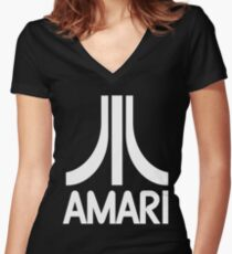 Amari, it's the plural of amaro, the Italian class of bitter liqueurs! Women's Fitted V-Neck T-Shirt