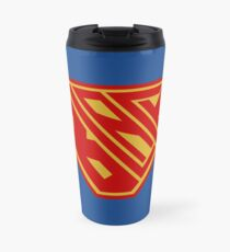 Black SuperEmpowered (Red and Gold) Travel Mug