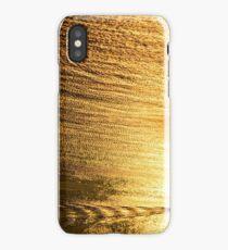 Sunset boat golden sea iPhone Case/Skin