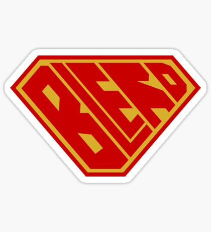 Blerd SuperEmpowered (Red and Gold) Sticker