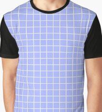 Blue Grid Graphic T-Shirt