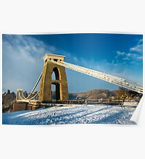 Clifton Suspension Bridge in WInter Poster